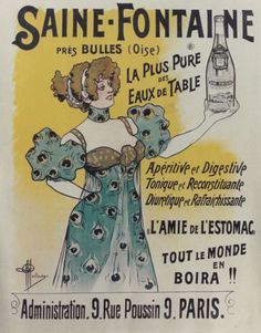 1900 Saine-Fontaine, French mineral water vintage advert poster