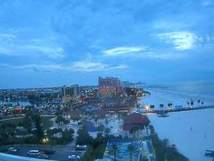 Night view from the Hilton Clearwater Beach