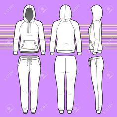 Blank Fashion Design Templates Vector  Front View Of Men's And Women's Clothing Setblank .