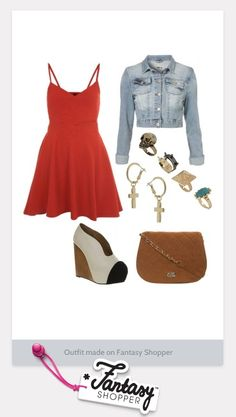 Check out this look created on Fantasy Shopper! Loving it? #denim #90s