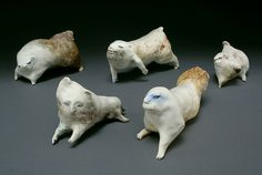 The Brigade by Heidi Preuss Grew    Porcelain, Oxidation Fired