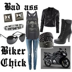 Bad ass biker chick