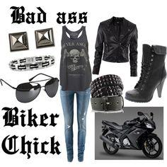Bad ass biker chick