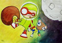 """Astronauta - ilustración inspirada en la canción """"Astronauta"""" de @cielitodrive #Ilustracion #Flickr"""