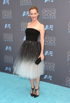 See all the best red carpet fashion at the 2016 Critics Choice Awards live here: Leslie Mann