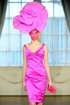 pink hats on the runway - Google Search