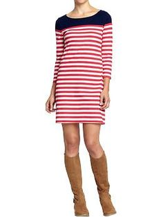 Women's Striped Color-Block Jersey Dress (Goodnight Nora). Old Navy. $24.94