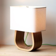 The Michigan Left Table Lamp Walnut Bent Plywood by Ciseal