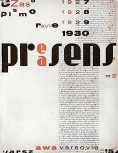 """The cover of the second issue of the magazine """"Praesens"""" — Warsaw – 1930 by Władysław Strzemiński"""