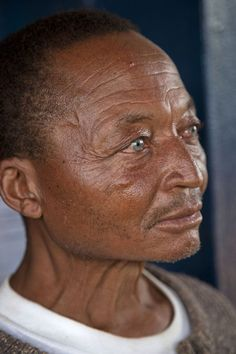 Cameroonian people | Cameroon                           African man in Nkombe with amazing blue eyes
