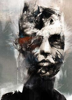 Abstract Fashion Illustrations - Russ Mills Seems to Convey a Mess of Emotion Through Art (GALLERY)