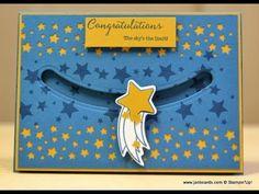 JanB Handmade Cards Atelier: Shooting Star Spinner Card Video & Peaceful Peachaven
