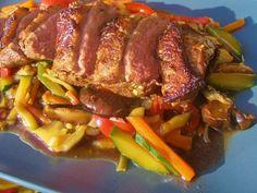 V kuchyni vždy otevřeno ...: Asijská kachní prsa China Food, Poultry, Steak, Chicken, Recipes, Vietnam, Indie, Drinks, Lemon