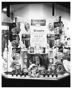 GRANTS store display window in FORT WORTH TX photo for 1941 COCA COLA WEEK
