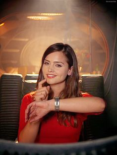 Jenna Coleman as Clara Oswin Oswald . Run you clever boy and remember