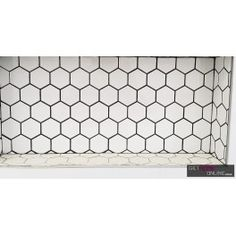 White Matt Hexagon Mosaic 51x59 (Code:00872)