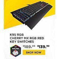 Various Corsair Mechanical Keyboards $30 to $50 off at corsair.com