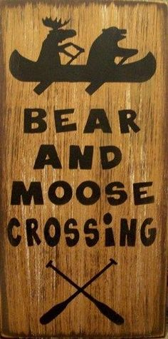 Bear-And-Moose-Crossing-Humerous-Country-Rustic-Primitive-Sign-Home-Decor