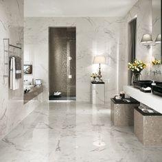 27 wonderful pictures and ideas of italian bathroom wall tiles 2019 Modern Bathroom Tile, Diy Bathroom Decor, Bathroom Flooring, Bathroom Interior, Bathroom Wall, Bathroom Ideas, Master Bathroom, Bathroom Marble, Flooring Tiles