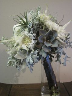 Vintage Grey and white Bouquet, Appleton Wedding flowers