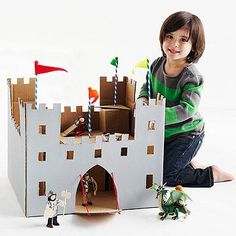 Cardboard box castle!