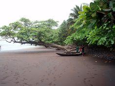 Limbe, Cameroun. Volcanic beaches