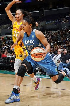 WNBA players Maya Moore and Kristi Toliver