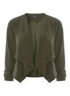 Womens Khaki Soft Waterfall Jacket- Khaki