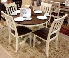 Whitesburg Dining Room With The Warm Two Tone Look Of Cottage White And Burnished