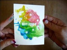 Learn how to use Brushos to 'control' your ink smooshing. Brusho Techniques, Paint Techniques, Watercolor Techniques, Card Tutorials, Video Tutorials, Birthday Sentiments, Alcohol Markers, Watercolor Cards, Distress Ink
