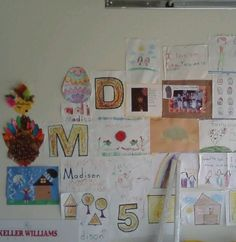 Kids artwork hung in the garage that I cannot bear to throw out but will not put in a memory book.