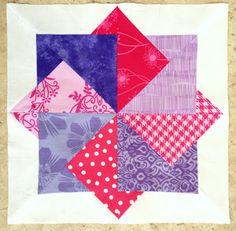 Craft Sew Create: Super Card Trick Block Pattern!  Great fun block pattern.  Paper pieced for accuracy.  Love it!!