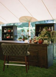 Outdoors reception bar