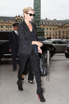 One jacket hardly has as far a reach as the original le smoking, looking great with  everything from jeans to black tie gowns—naturally it's one of Kate Moss' staples.