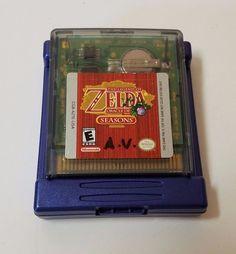 Nintendo Gameboy Game Boy Color Zelda Oracle of Seasons Link Cartridge 2001 GBC