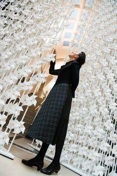 The Wind Portal installation Najla El Zein at the V&A Museum - London Design Festival 2013
