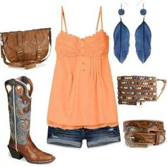 Outfit with cowboy boots