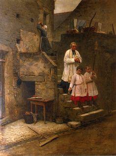 Henry Mosler - The Last Sacraments (1884)