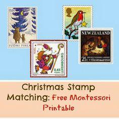 Montessori Nature: Christmas Stamp Matching: Free Montessori Printable