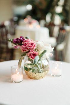 Photo: Michelle Lange Photography - wedding centerpiece idea