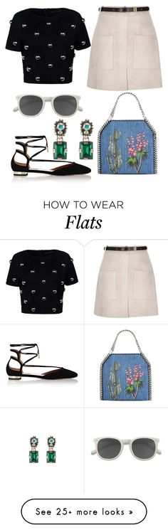 """""""Untitled #1955"""" by filipaloves on Polyvore featuring Aquazzura, Anthony Vaccarello, River Island, Ace, STELLA McCARTNEY and Marni"""