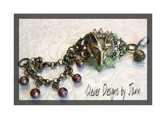 May Challenge .. Very Foxy Critter Country Bracelet ..  Clever Designs by Jann .. https://www.etsy.com/shop/CleverDesignsbyJann