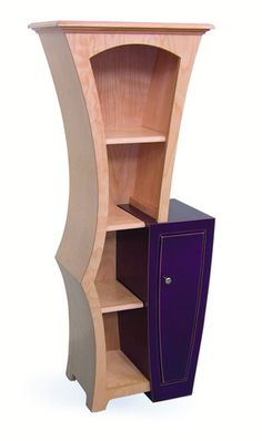 Stacked Cabinet No.5 by Dust Furniture.  Shown in Natural Birch & Violet Paint