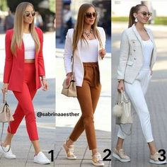 White pockets lapelless fashion blazer page 13 Classy Outfits For Women, Casual Work Outfits, Chic Outfits, Fashion Outfits, Clothes For Women, Fashion Clothes, Trendy Outfits, Fall Outfits, Work Fashion