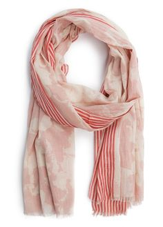 MANGO - TOUCH - Striped trimming foulard