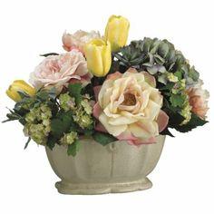 Tulip/ Rose/ Hydrangea Silk Flower Arrangement ARWF1197
