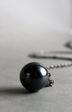 /silver-ball-necklace-hematite-ball