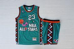 df46e9bca NBA ALL STAR 23 HARDWOOD CLASSICS BASKETBALL JERSEY SHORT SET MULTI   65  Nba Basketball