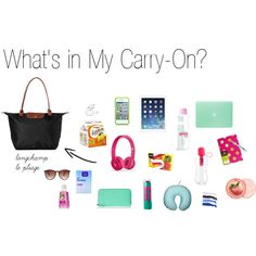 """""""What's in My Carry-On?"""" by thelemondepartment on Polyvore"""