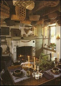 Decorating theme bedrooms - Maries Manor: primitive americana decorating style - folk art - heartland decor - Colonial & Country style decor...